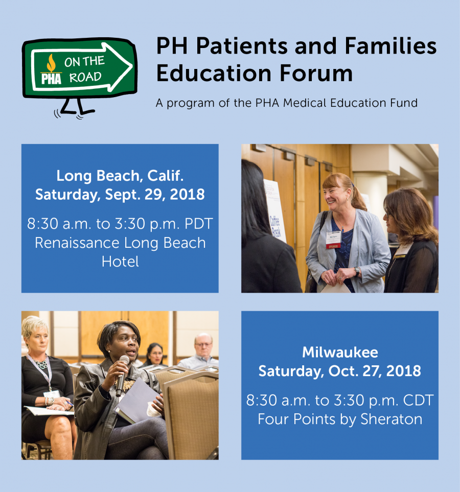 PHA on the Road: PH Patients and Families Education Forums